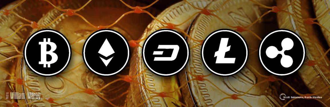 Crypto, Cybercurrency, Bitcoin, LiteCoin, DASH, Ethereum, Ripple