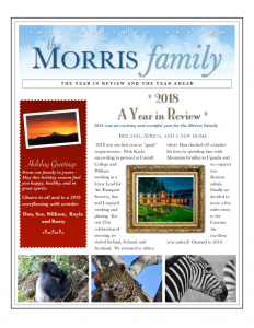 2018 Morris Holiday Letter