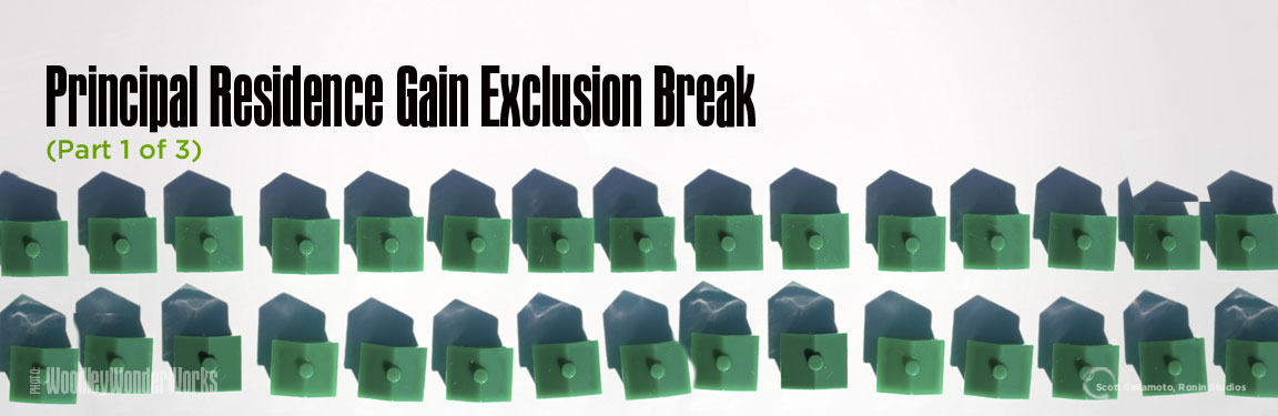 Federal Income Tax Savings, Home Sale Gain, Home Sale Gain Exclusion Break, Income Tax gain Exclusion Break, Income Tax Savings, Principal Residence Gain Exclusion Break, Real Estate Taxes, Residential Real Estate